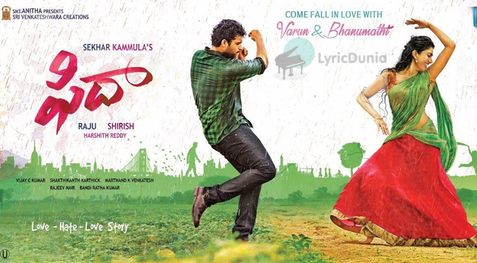 Hey Pillagaada Telugu Song Lyrics – Fidaa | Varun Tej, Sai Pallavi  Telugu Lyric