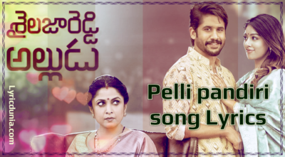 Pelli Pandhiri Song Lyrics Song with Lyrics  Sailaja Reddy Alludu |Akkineni Naga Chaitanya, Anu Emmanuel|