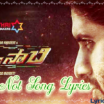 Why not Telugu song Lyrics | Savyasachi | Naga Chaitanya | M M keeravani.