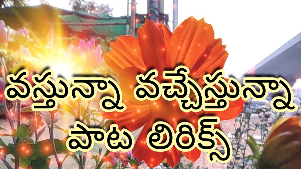 Vasthunnaa vachestunna song Telugu lyrics-v Movie-Nani