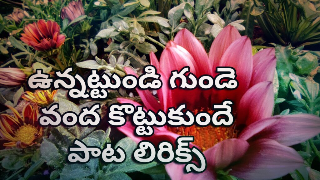 Unnattundi gunde vanda kottukunde song lyrics